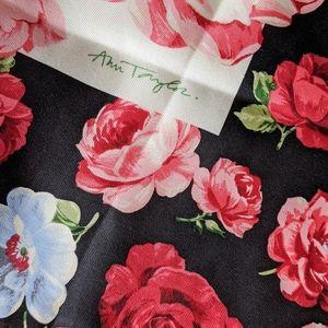 NWT Ann Taylor 100% silk scarf w/roses